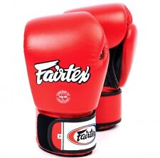 Fairtex Bgv-1 Breathable Muay Thai/Boxing Gloves Red 12oz