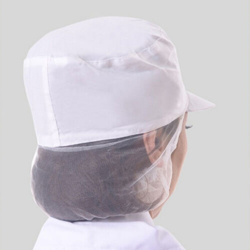 Poly Cotton Catering Baker Kitchen Cook Chef White Hat Costume Snood Cap STUK