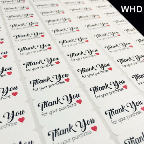 NEW STYLE THANK YOU FOR YOUR PURCHASE Labels Stickers Self Adhesive