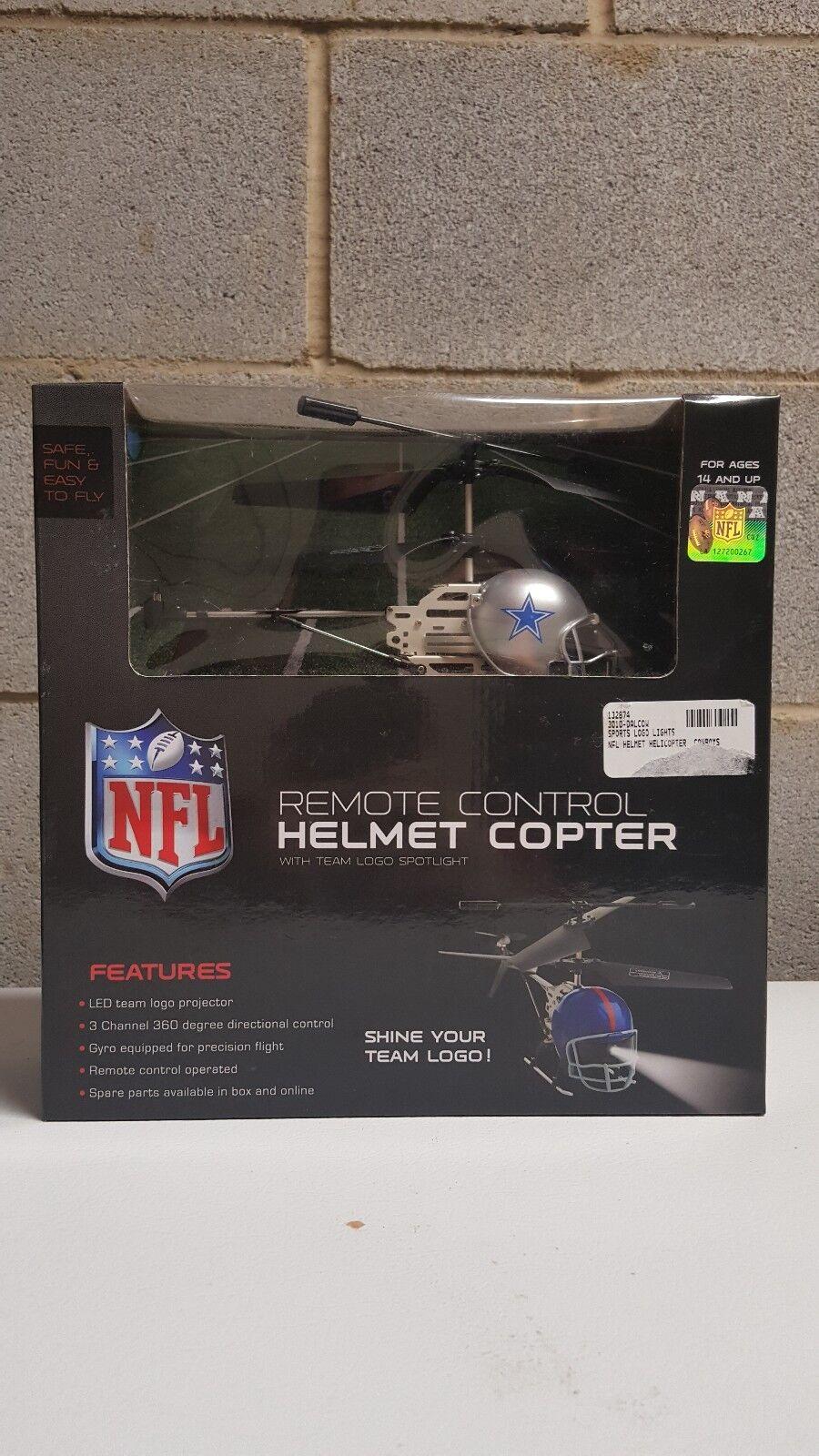 Control Remoto NFL Dallas Vaqueros casco Copter  Nuevo en Caja  LED Logo Projector