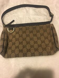 909b1425285 Image is loading GUCCI-Small-Shoulder-Bag-Brown-Authentic-Pre-owned