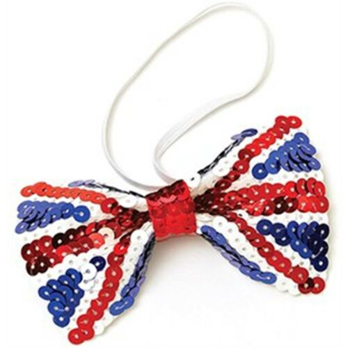 Union Jack Sequin Bow Tie Fancy Dress Ba908 Party Bristol Novelty