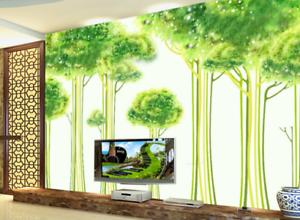 3D Green Small Trees 7 Wall Paper Murals Wall Print Wall Wallpaper Mural AU Kyra