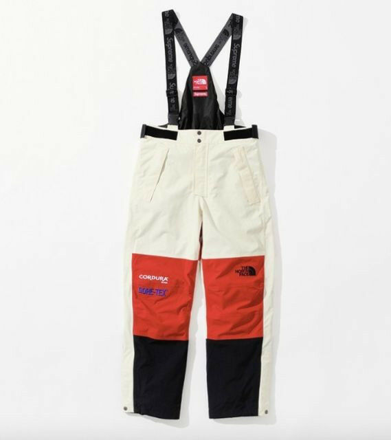 Supreme / The North Face Collab  Herren MEDIUM (ROT/Weiß) Expedition Pant FW18