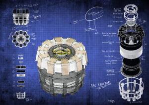 024 blueprint iron man arc reactor 19x14 poster ebay image is loading 024 blueprint iron man arc reactor 19 034 malvernweather Images