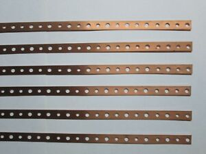 .Sold Copper Mini Strap  six pieces 20 inches long each.