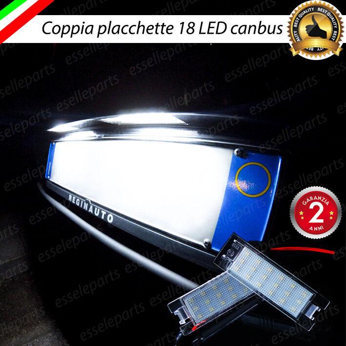 COPPIA LUCI TARGA 5 LED OPEL MERIVA B T10 W5W SPEGNI SPIA 100/% No ERROR