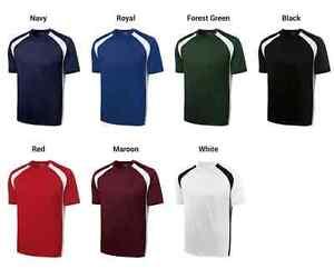Dry-Zone-Cross-T-Shirt-Gym-Workout-Tees-Sport-Tek-Mens-S-3XL-4XL-Dri-fit-Wick
