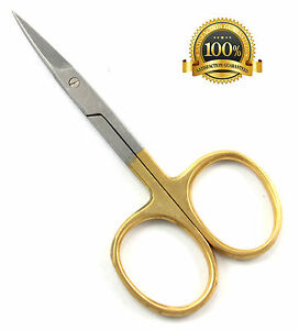 SUPER-SHARP-STRAIGHT-BLADE-BLUE-AVOCADO-CUTICLE-NAIL-SCISSORS-GOLD-SILVER-STEEL