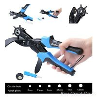 Hole Punch Leather Plier Tool Belt Puncher Saddle Card Fabric Rubber Paper Craft