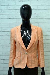 JUST-CAVALLI-Donna-Giacca-Cotone-Taglia-42-Blazer-Vintage-Woman-Jacket-Arancione