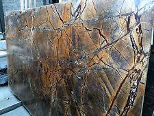 Tischplatte Arbeitsplatte Naturstein Marmor Rainforest Brown Waschtischplatte