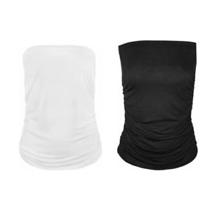 New Plus Size Womens Plain Strapless Ladies Long Bandeau Boob Tube Top 8-26