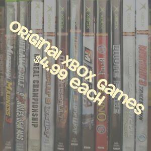 Original-Microsoft-XBOX-Video-Games-Games-are-4-99-Each