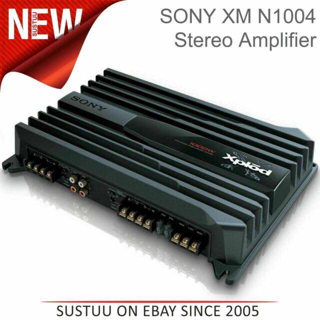 Sony 4/3/2 Canal Coche Amplificador Estéreo │ Automático Térmico Mando │ 1000W