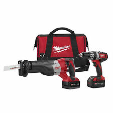 Milwaukee M18 Lithium-Ion Drill Driver/Recip Saw/Accessory Cordless Tool Combo K