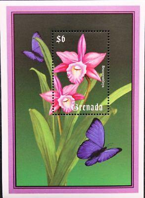 Grenada 2000 Block 550-51 Orchideen Orchids Blumen Flowers Flora Pflanzen Mnh Auswahlmaterialien Motive
