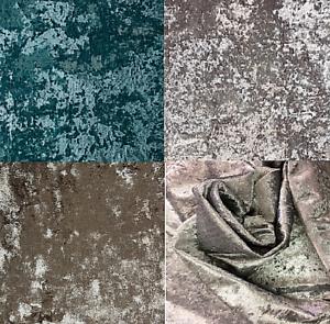 Shimmer Textured Luxury Crushed Velvet Curtain Upholstery Fabric