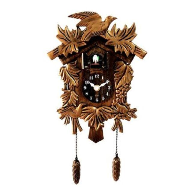 Bird Cuckoo Wall Clock Unicorn Decor Home Day Time Alarm Clock New Moving Bellow