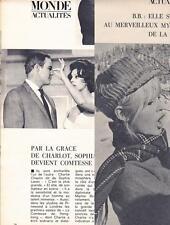 Coupure de presse Brigitte BARDOT / Sophia LOREN clipping 1966