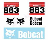 Bobcat 863 Turbo Skid Steer Set Vinyl Decal Sticker - Aftermarket