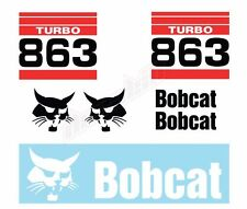 Bobcat 863 Turbo Skid Steer Set Vinyl Decal Sticker Free Shipping