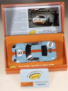 PRL-SLOT-CARS-FORD-GT40-1st-24h-LE-MANS-WINNER-1968-LTD-EDIT-COLL-RODRIGUEZ