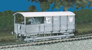 Ratio-569-GWR-20-ton-TOAD-Brake-Van-M-W-Plastic-Kit-OO-Gauge