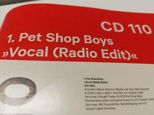 Pet-Shop-Boys-Promo-CD-rare-Spex-Magazine-vocal-Exclusive-Radio-Mix-Electric-nuevo