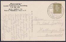 DR PP 111 C 2 / 01 Ganzsache Burgplatz mit SST Essen Eposta - Hattingen 1932, GA