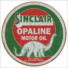 Sinclair Motor Oil USA Tankstellen Dino Logo Metall Werbung Schild