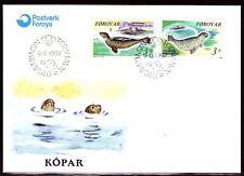 Färöer 1992 FDC Mi.235/36 Tiere Animals | Seehunde See-Lion | Marine Life | Sea