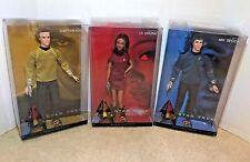 Barbie Star Trek 50th Anniversary Captain Kirk Mr. Spock Lt. Uhura New in Box