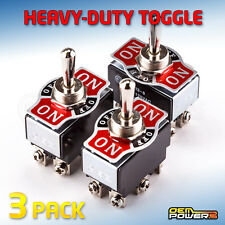 3 X Radioshack Dpdt Heavy Duty Center Off Toggle Switch 10a 125v 2751533 New