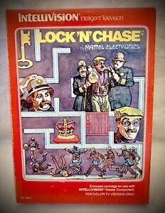 LOCK-N-CHASE-Vintage-1982-Mattel-Intellivision-Complete-Video-Game