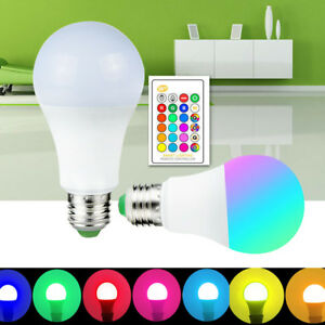 Dimmable-E27-B22-5-10-15W-RGB-W-WW-LED-Light-Color-Change-Lamp-Bulb-IR-Control