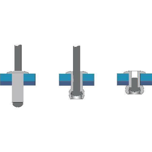 Bralo s1010004008 rivetto x l 4 mm 8 acciaio alluminio 50 pz
