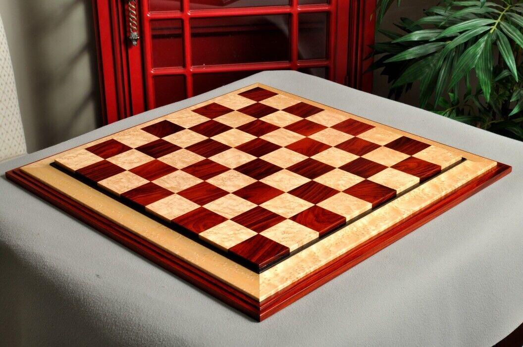 Signature contemporain III luxe Chess Board-GRENADILLE Bird's Eye Maple - 2.