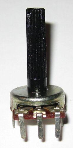 "Knurled 1//4/"" Shaft 5 X 50k Ohm Linear Potentiometer PC Board Mount Taper"