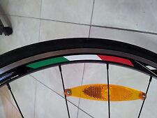 4x Italia Llanta Rueda Stripe pegatinas Bandera Bicicletas Para 700c perfil 24,35,50,75