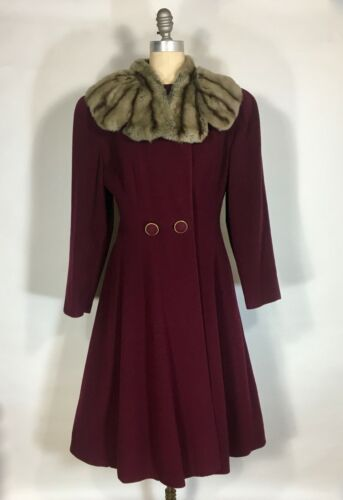 Vintage 1930's 1935 Deep Red wool princess or swin