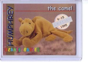 Ty-S1-SILVER-Retired-Humphrey-the-Camel-Beanie-Card-RARE-INSERT-4060