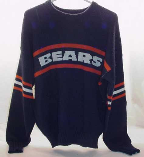 Vintage Chicago Bears Authentic Pro Line Sweater by Cliff Engle SIZE XLARGE