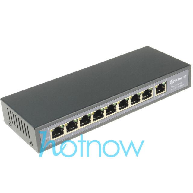 15V 120W 9 Ports Passive PoE Injector Ethernet Switch for Ubiquiti Mikrotik sPoE