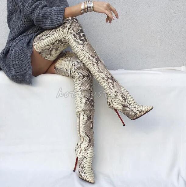 Overkneestiefel Damen Schuhe Sexy Stiefel Spitz High High High Heels Clubwear Nachtclub   d75f71