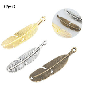 3PCS-DIY-Vintage-Alloy-Feather-Connector-Charms-Pendant-Necklace-Jewelry-Making