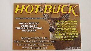 4oz HOT BUCK,Apple Flavored Deer