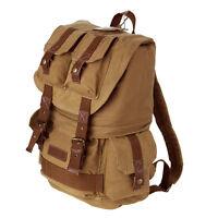 Koolertron Canvas DSLR Camera Shoulder Bag Backpack Rucksack Waterproof Cover