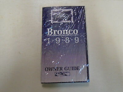 ford bronco owners operators owner guide manual