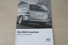173967) Kia Carnival - Preise & tech. Daten & Ausstattungen - Prospekt 01/2003